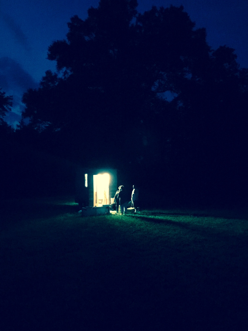 Dyson's mobile studio, Studio South Zero, set up in Alamance County, North Carolina.
