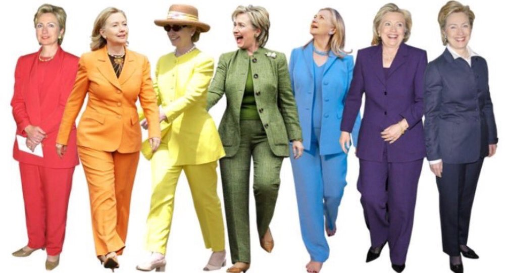 Pantsuit nation? Photo credit @eleanorweston_ on Twitter.