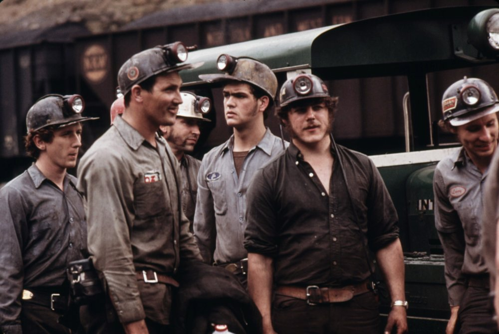 Coal miners in Virginia, 1962. Photo by Jack Corn.