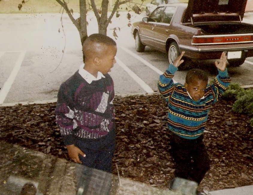 Brian Foster and his brother. Courtesy Brian Foster.
