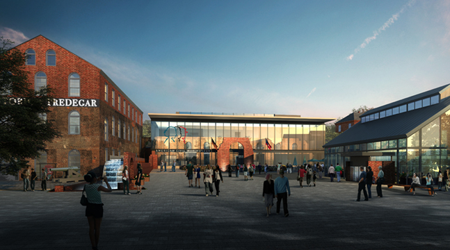 Rendering of the front of the planned American Civil War Museum building. Courtesy American Civil War Museum.
