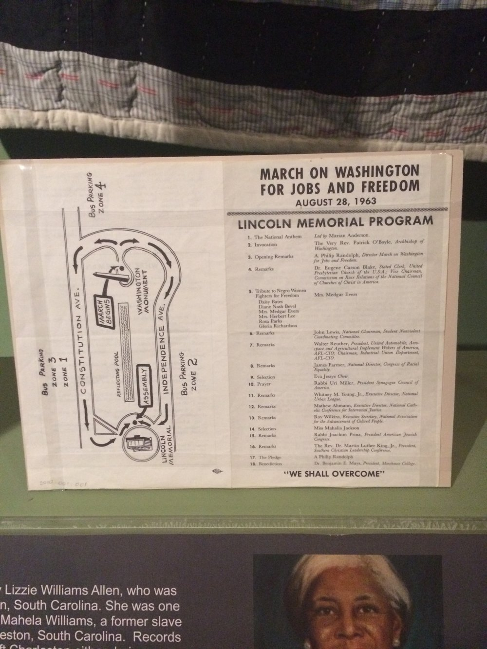 A program from the 1963 March on Washington, part of Tredegar's exhibit on the legacy of the Civil War.