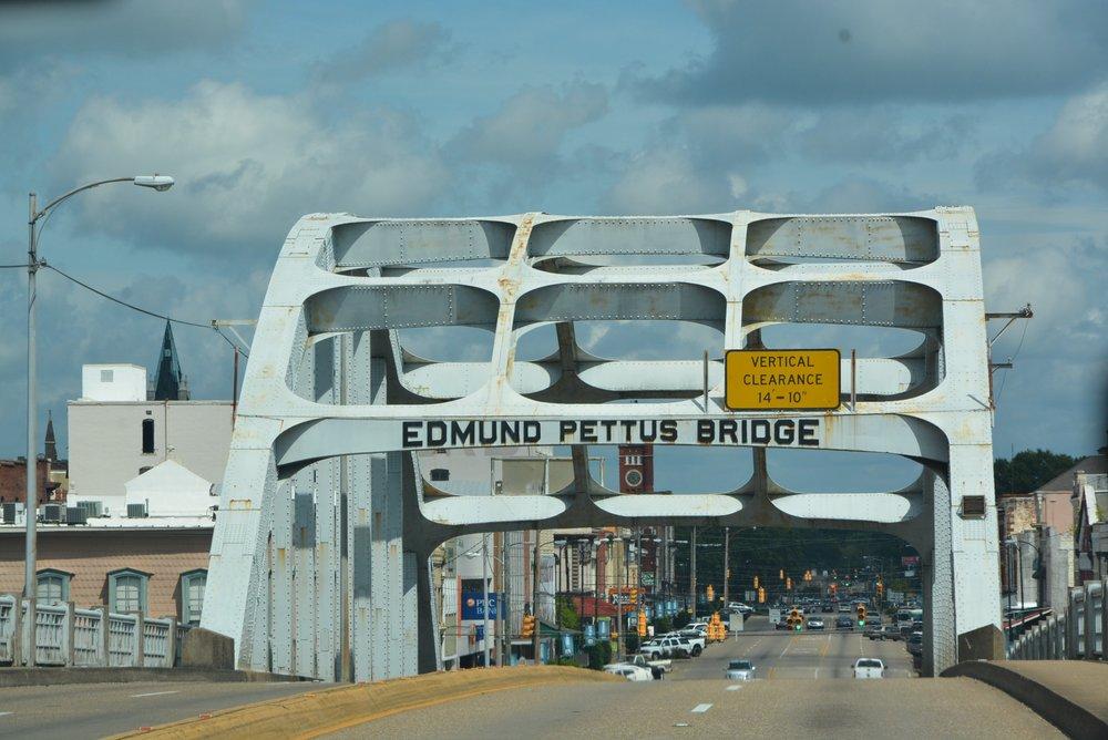The Edmund Pettus Bridge, in Selma, Alabama. Photo by Tony Bingham.