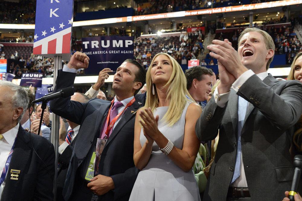 Members of Trump's family. Image courtesy ABC News.