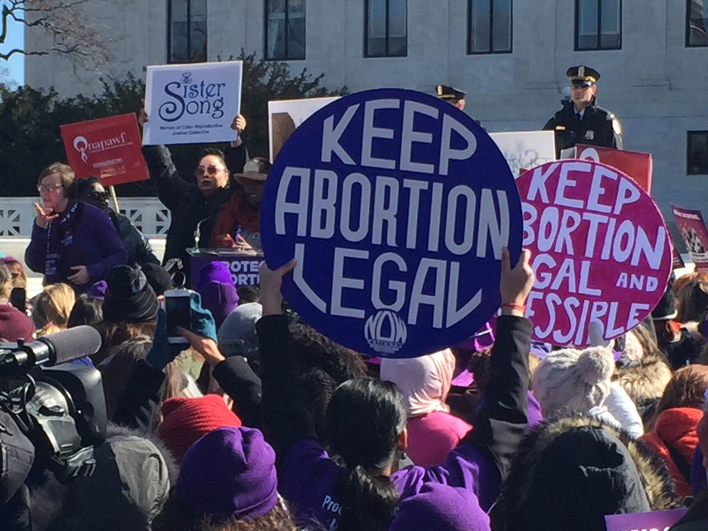 ARC-Southeast joined protestors from across the country to show support for abortion access at the U.S. Supreme Court during the Whole Woman's Health vs. Hellerstadt argument, March 2nd, 2016.Image courtesy the author.