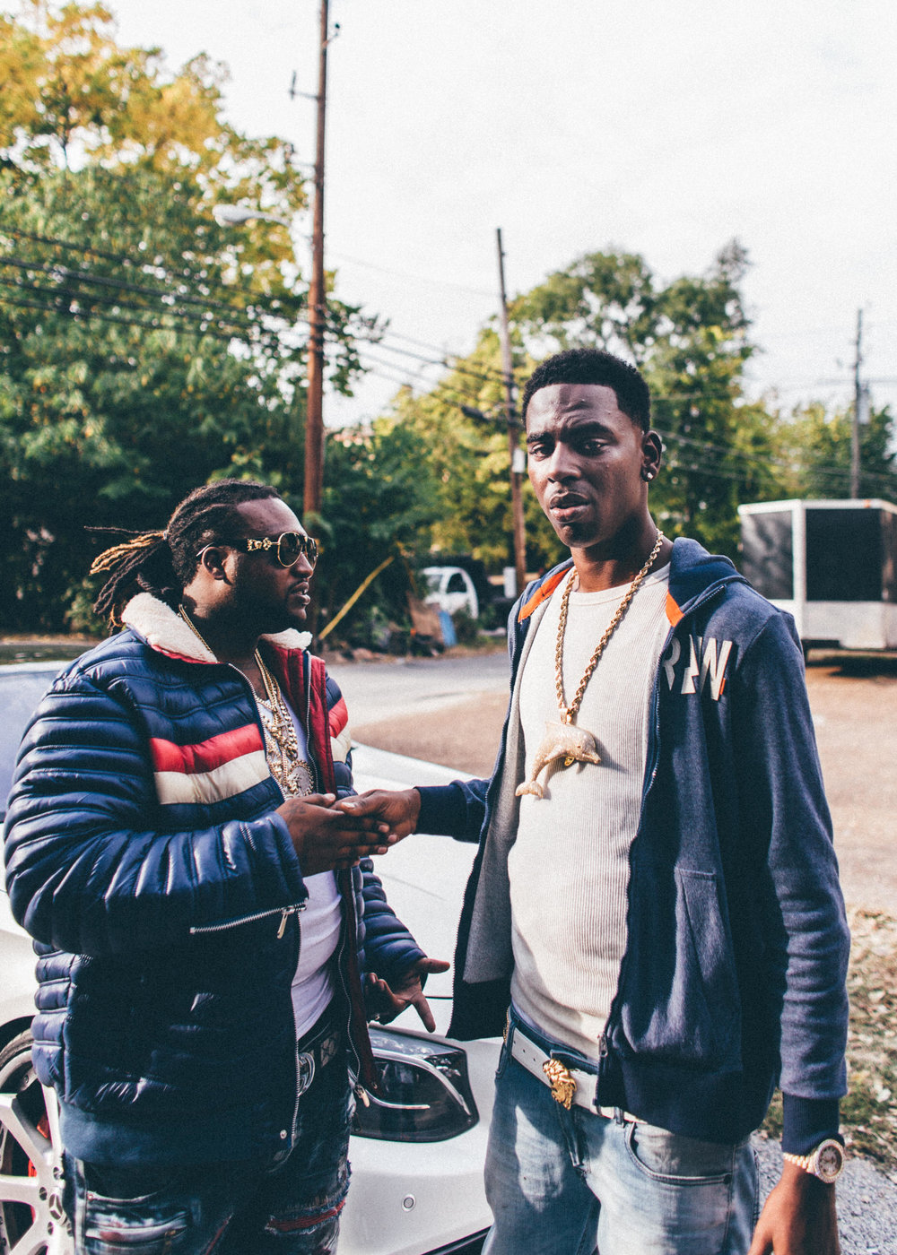 Young Dolph outside a studio session with Nashville's Bug Diddy. Photo by Zach Boisjoly
