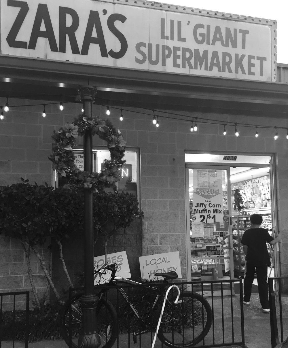 Zara's Lil Giant Supermarket, where Roechelle Cox worked for about three years. (Photo courtesy author.)