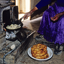 ' Frybread'  an unhealthy food in native culture.