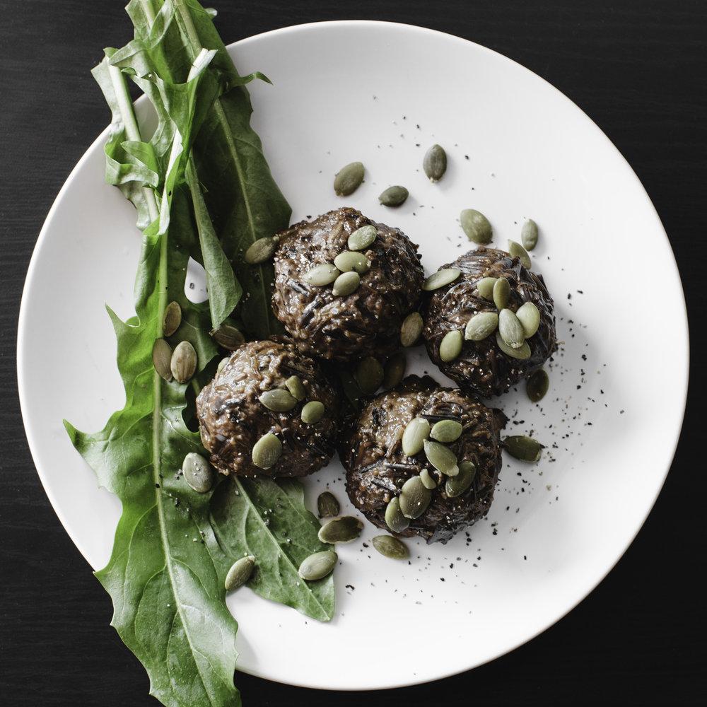 Manoomin Elk Meatballs