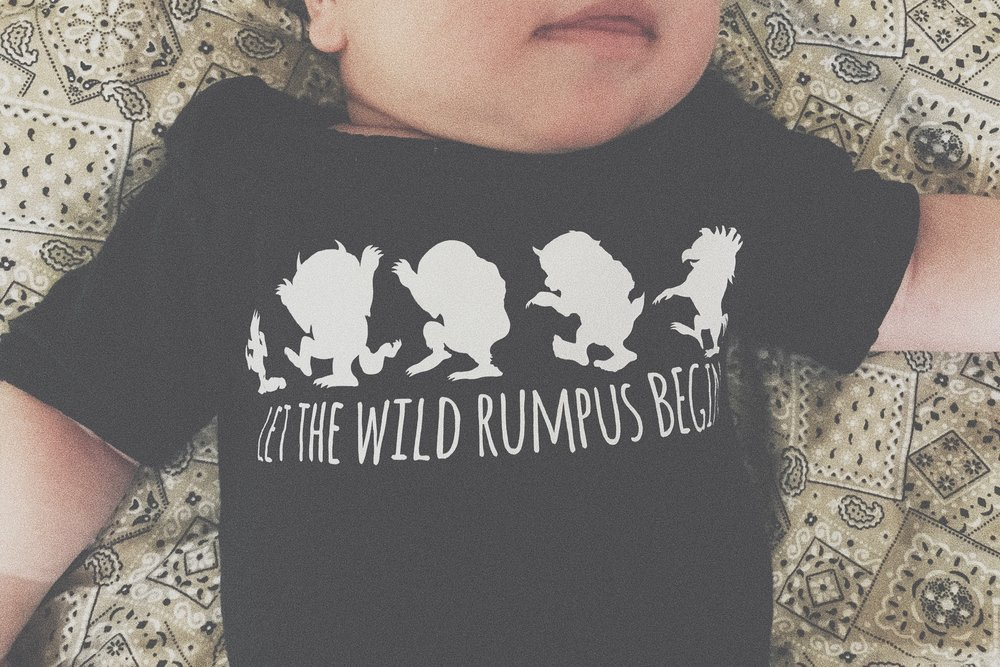The cutest onesie ever, a gift from my sisters McCall and Liz.