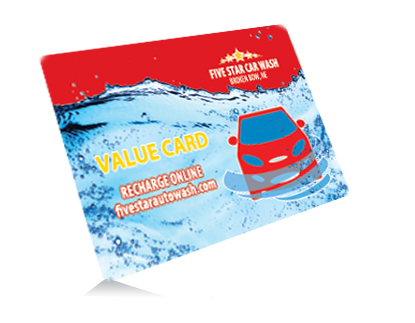 The Value Card from Five Star Car Wash