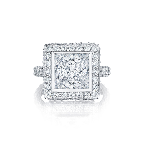 Princess Cut Diamond Center Stone in a Halo