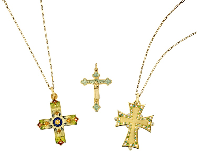 Crosses from our Masriera collection.
