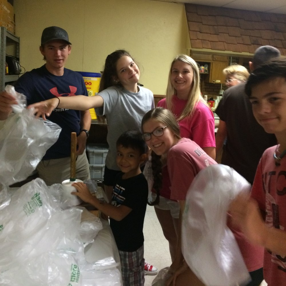 Brother Paul's Kitchen - Every Monday during the summer months we take a group to Friendly Chapel in North Little Rock to make and distribute meals. This is a fun and direct way that we can make sure that all people have enough to eat.