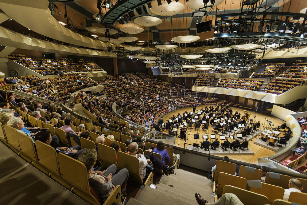 The Colorado Symphony performs at Boettcher Concert Hall in Denver. (Photo by Paul Brokering)