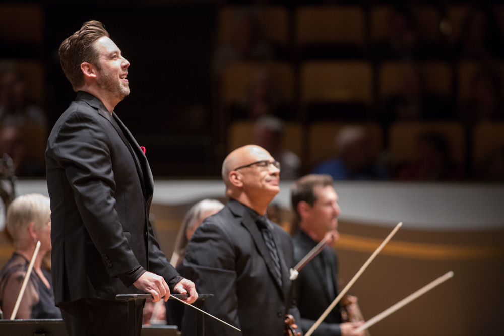Brett Mitchell will lead the Colorado Symphony and Chorus in works of Debussy, Salonen, and Ravel on February 2, 3, and 4 at Boettcher Concert Hall in downtown Denver. (Photo by Brandon Marshall)