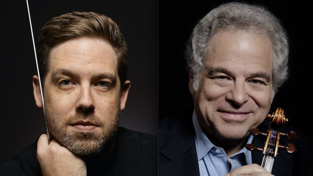 Music Director Brett Mitchell and the Colorado Symphony will welcome violinist Itzhak Perlman for a performance of Beethoven's Violin Concerto. (Photos by Roger Mastroianni and Lisa Marie Mazzucco)