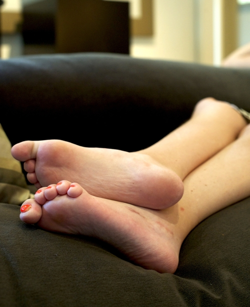 Marsa's feet, first photo shoot for Illumination