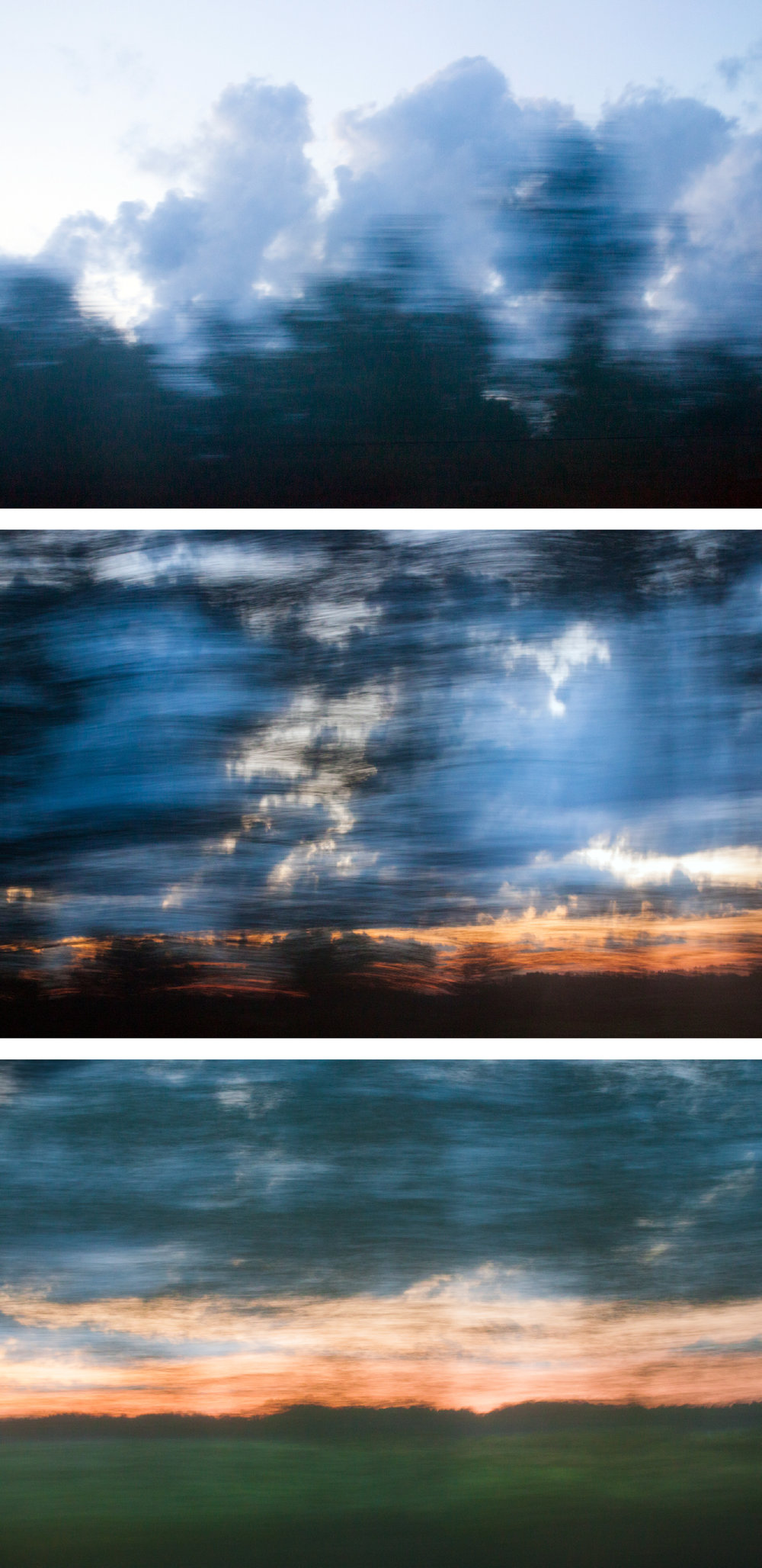 From the Window of the Trans-Siberian Railroad by Yulia Morris (Triptych)