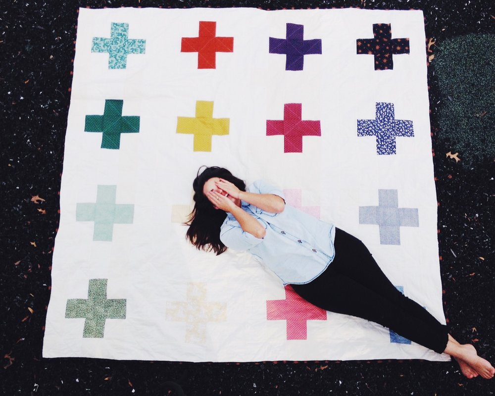 Custom Modern Quilt by Alex Wolf By The Delighted People