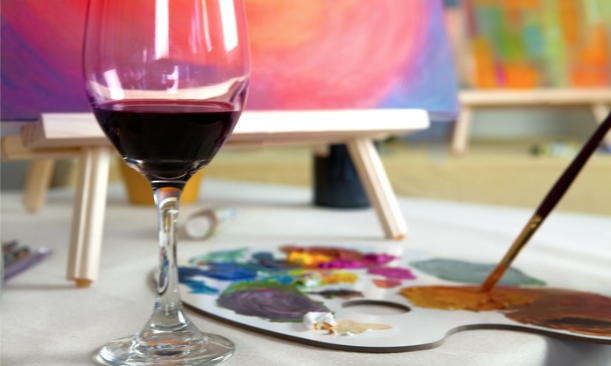 Paint & Wine Party for 12 (includes supplies, art instruction, hors d'oeuvres, and wine) By Genius Kids Club