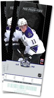 2 Tickets to the LA KINGS By Tom & Dana Riccard