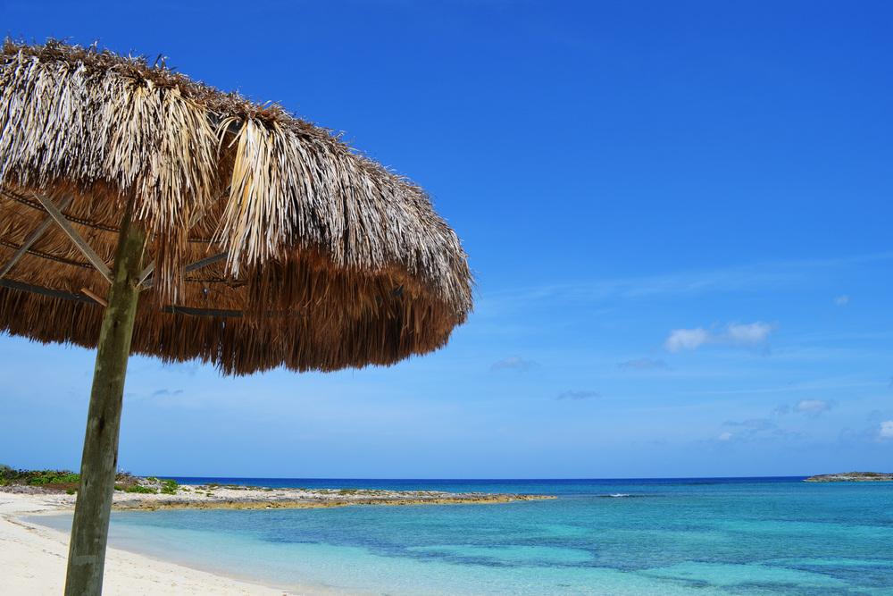 A hidden beach in the Bahamas