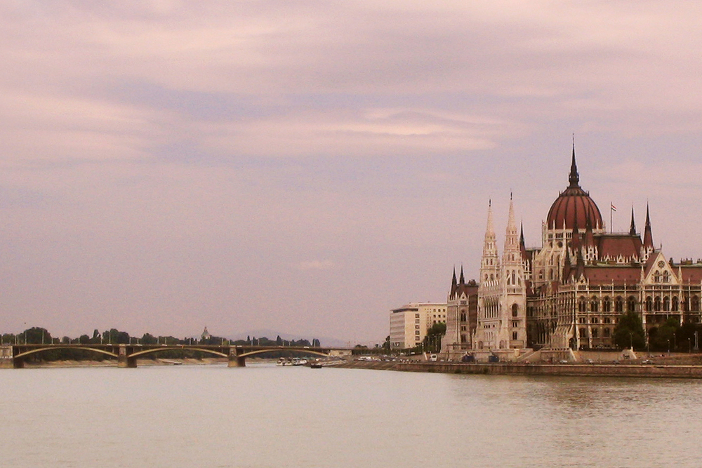 The Parliament Building in Budapest, Hungary, along the Danube River