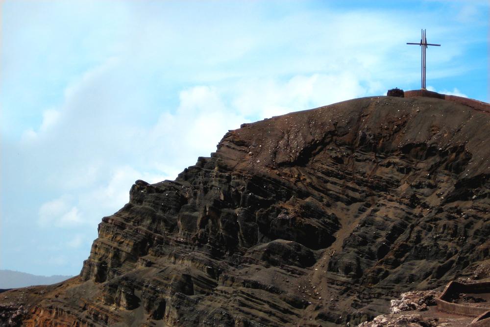 The cross atop the Masaya Volcano, near Managua, Nicaragua