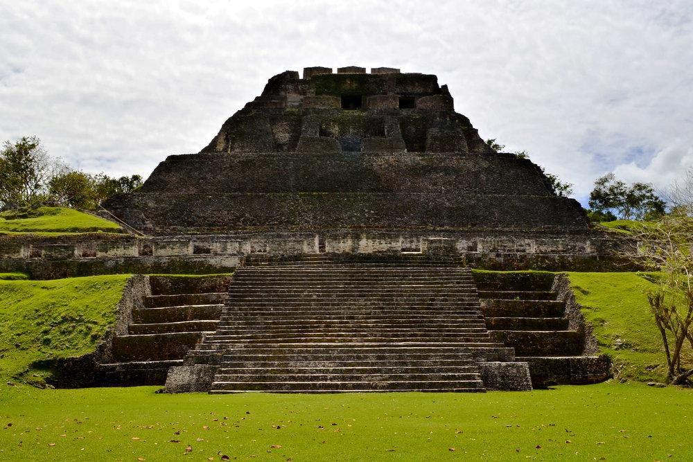 The Xunantunich Mayan ruins in the jungles of western Belize