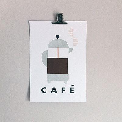 Cafe mini print