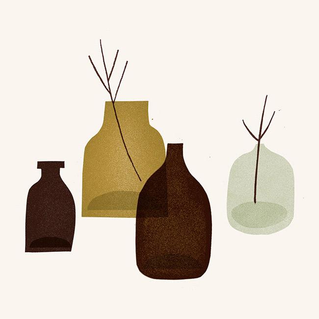 teeny vases