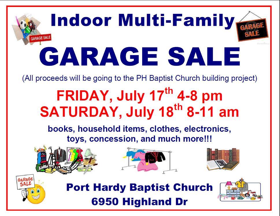 garage sale fundraiser
