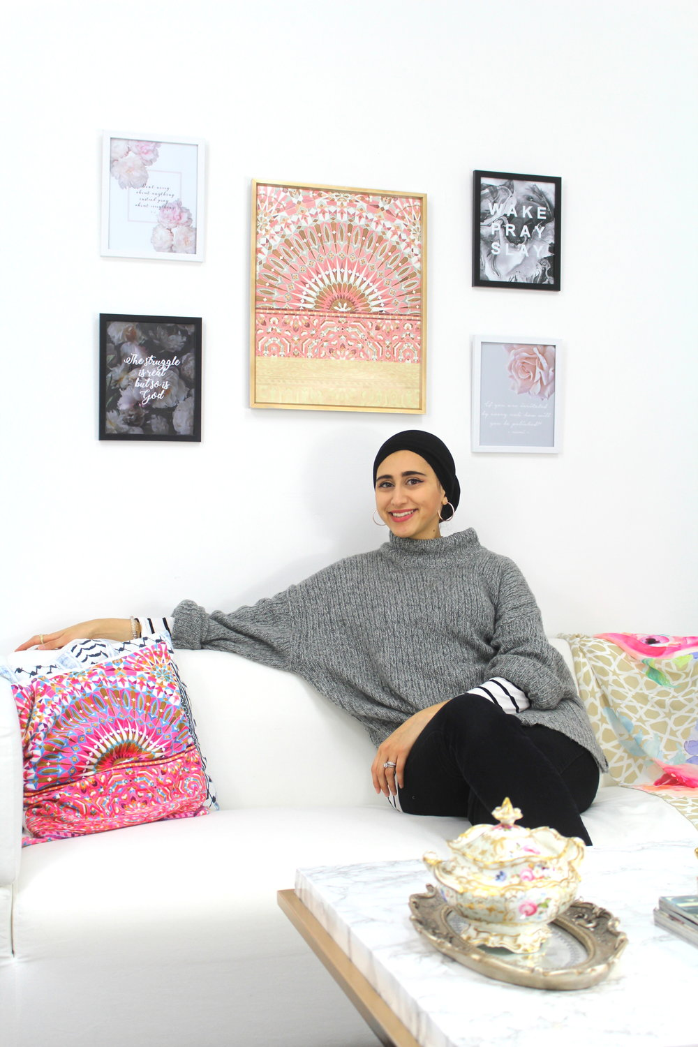 Hey there! I'm Hoda J, a lady of many trades. Lifestyle designer, cerfitied interior designer, small business owner, photographer and a DIY lover. I try my best to not only create wonderful things with a meaning  but also with a purpose. That is why every purchase you make at Karama a part of it goes to charity.