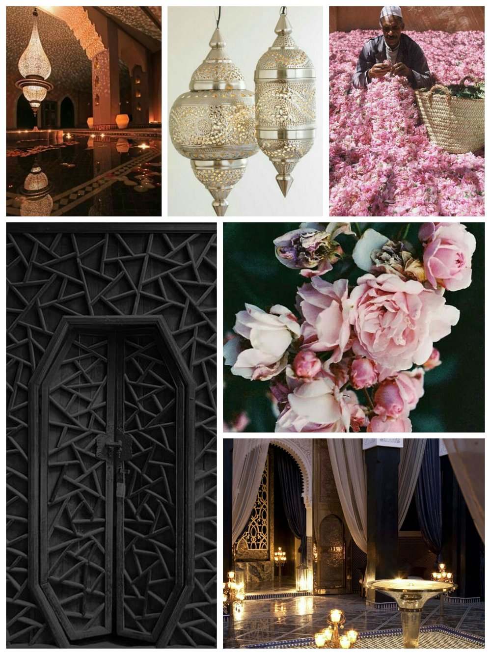 moodboard  - Our Mood board that inspired us to create the Enchanted Arabesque Nights