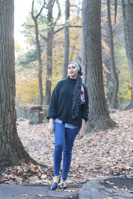 hijab-moroccan-scarf-fall winter fashion