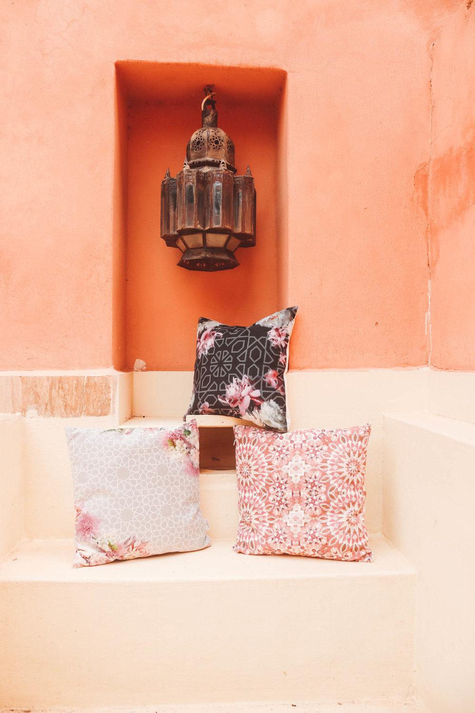 Arabesque Moroccan Accent Wall- Karama by Hoda- Moroccan Pink Salmon Wall.jpg