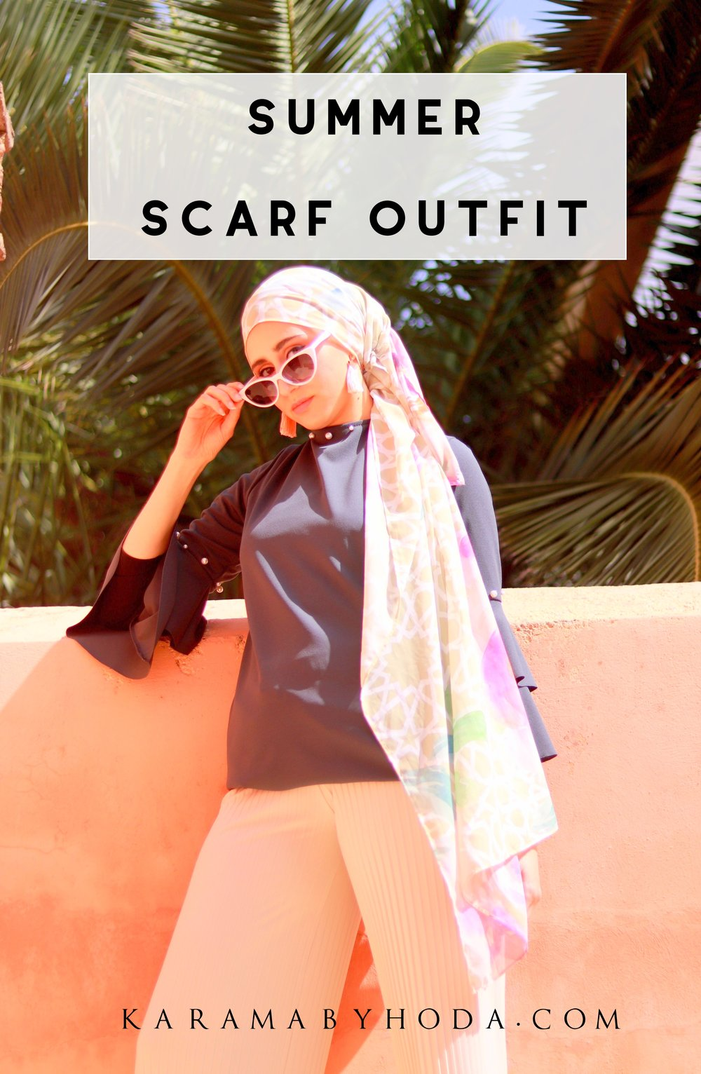 Summer Scarf Style Scarf Outfit Luxury Scarf Moroccan Outfit Hijab Summer Outfit.jpg