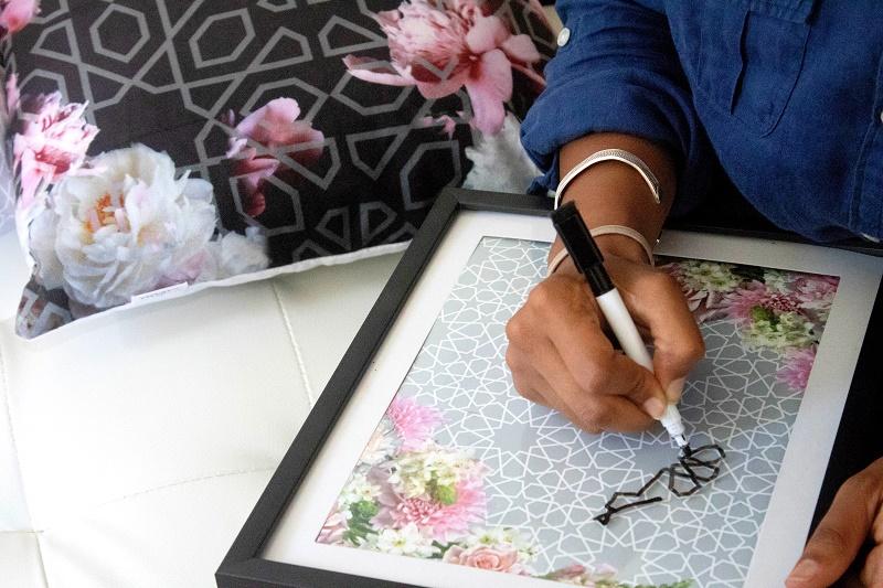 DIY Inspirational Modern Arabesque Art - Karama by Hoda