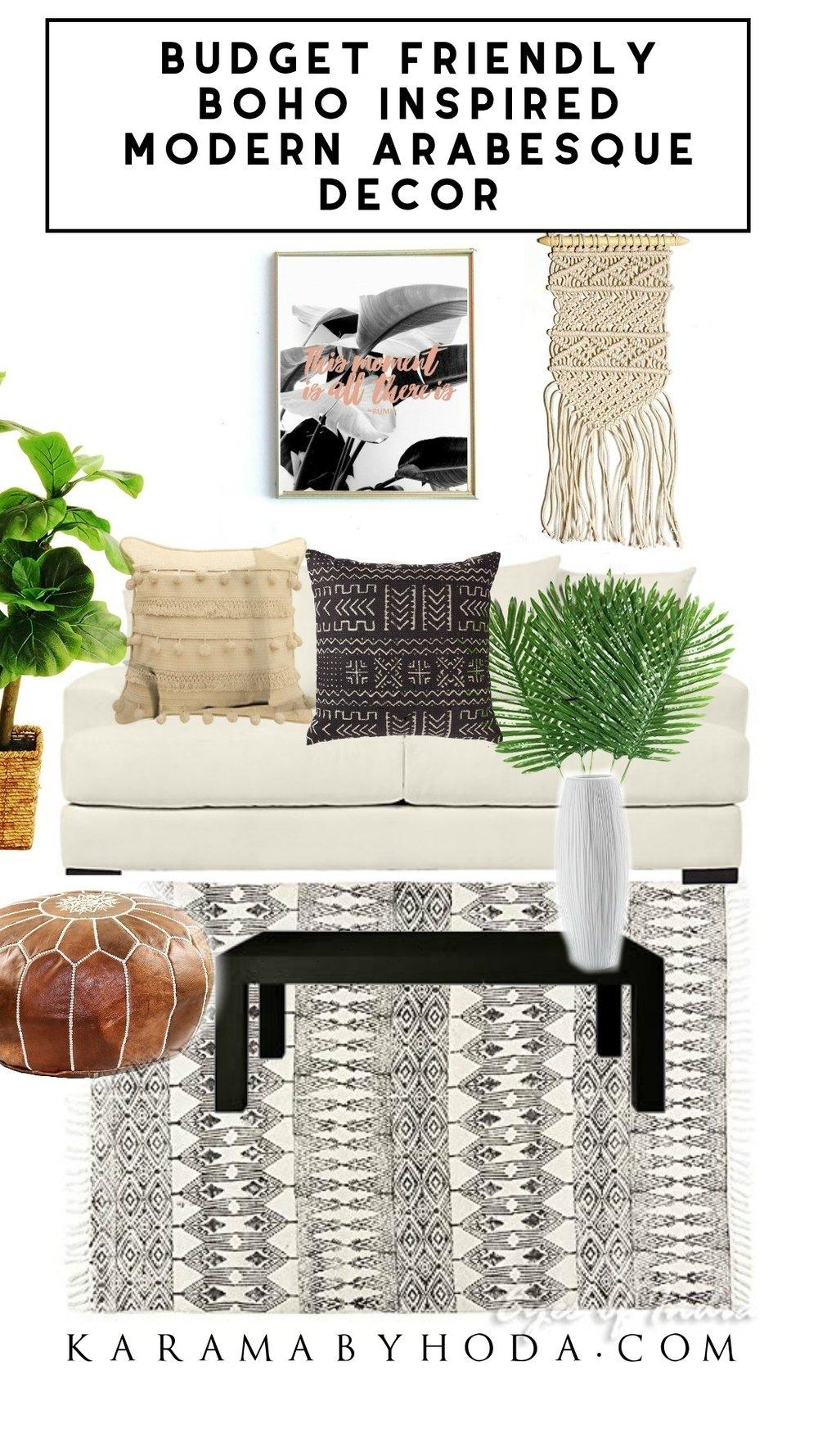 Boho Inspired- Moroccan Modern Arabesque Decor- Amazon Prime- Karama by Hoda.jpg