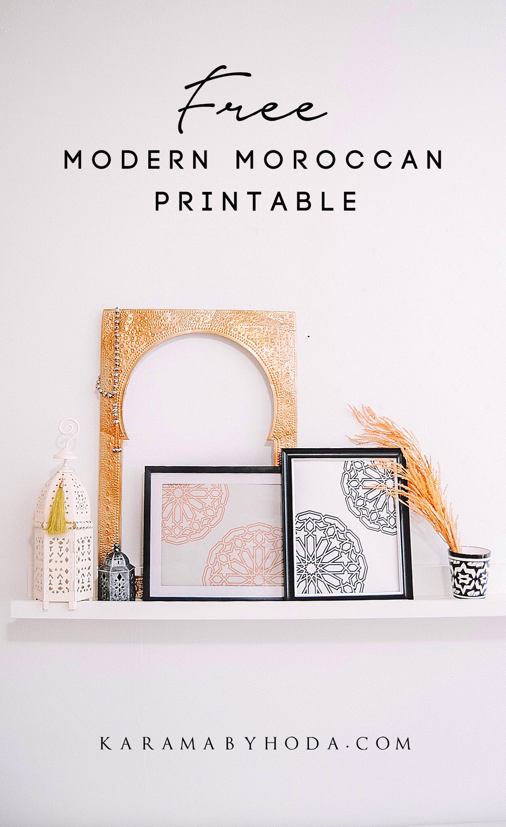 Free Modern Moroccan Printable Wall Art - Karama by Hoda