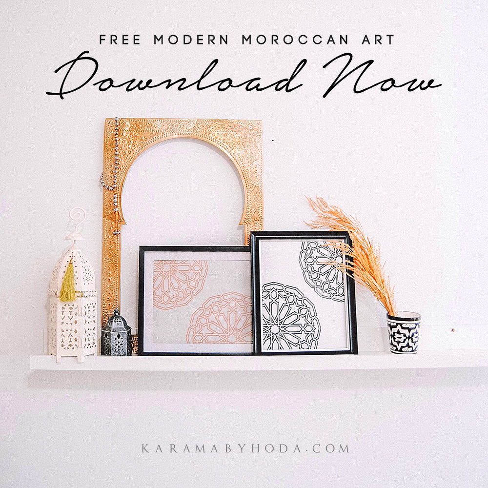 Free Modern Moroccan Printable Wall Art Decor - Karama by Hoda