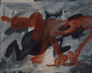 "Left and Right , Acrylic on board, 16 1/2"" x 20"", 1989"