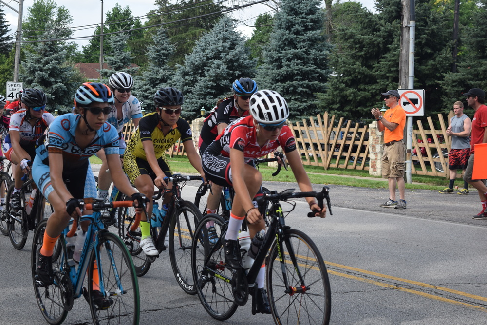 The Women's category 2/3 Road Race at Willow Springs, which also hosted the Illinois State Championship Road Race competition.