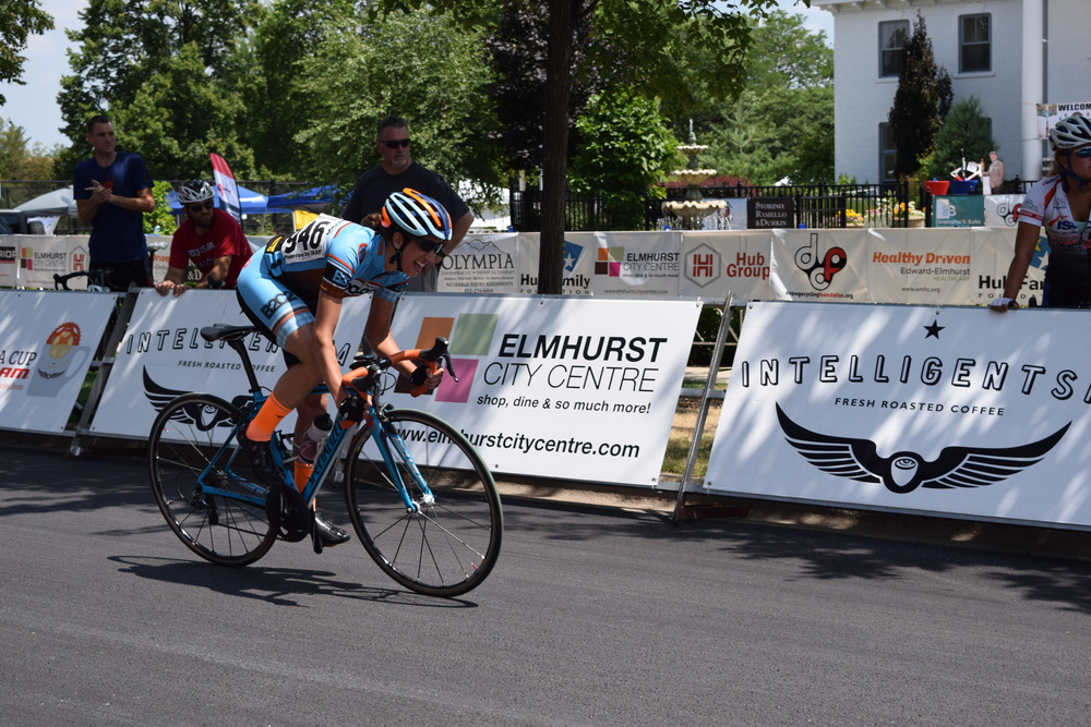 Sprinting to 5th place in Elmhurst on the 5th day of the series. Ow. Ow. Ow.