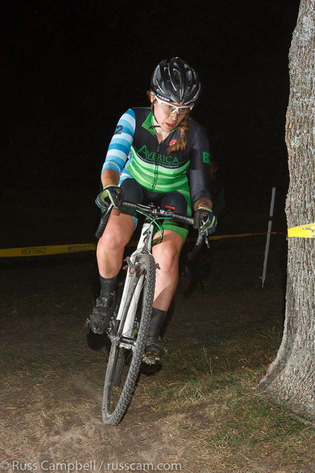 Bike racing at night is dark. Photo Credit: Russ Campbell