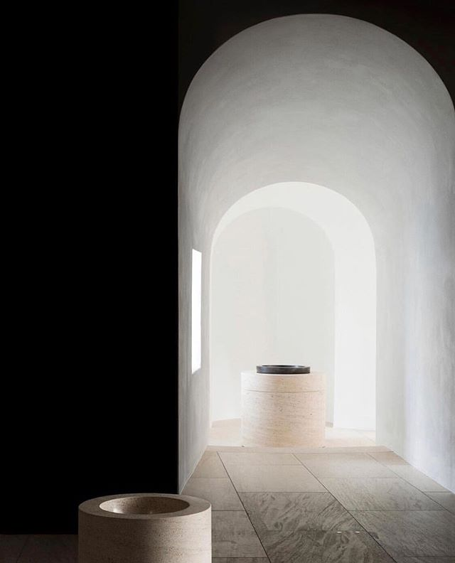 "#WEDDINGINSPIRATION — CEREMONY CHAPEL | Moritzkirch in Augsburg, Germany | Architect @johnpawson. 2008-2013. ""The purpose of this latest intervention has been to retune the existing architecture, from aesthetic, functional and liturgical perspectives, with considerations of sacred atmosphere always at the heart of the project. The work has involved the meticulous paring away of selected elements of the church's complex fabric and the relocation of certain artifacts, to achieve a clearer visual field. Drawing on existing forms and elements of vocabulary, an architectural language has evolved that is recognisable in subtle ways as something new, yet has no jarring foreign elements."" #destinationwedding"