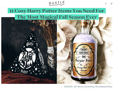 Harry Potter Items Bustle