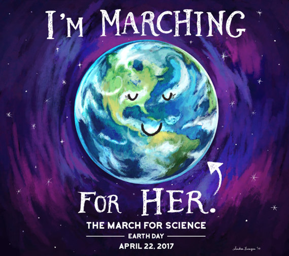 I'm marching for Her