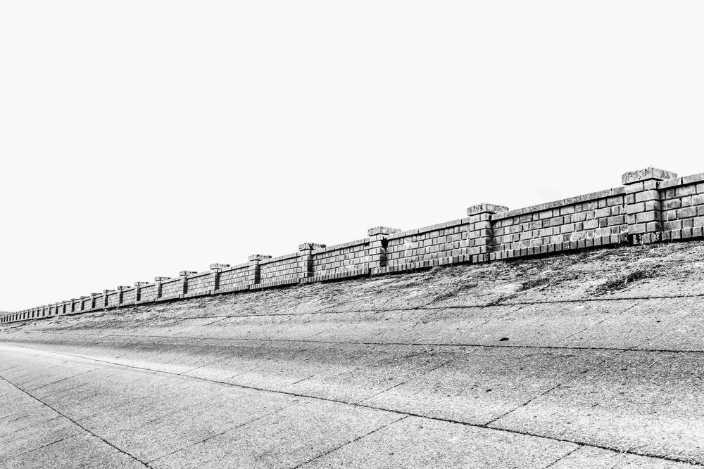 Usk Dam Wall